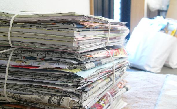 新聞紙、雑誌、本、段ボールなど